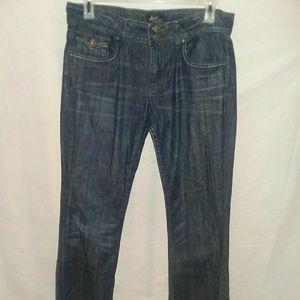 Vigoss Jeans Size 12 Boot Cut Dark Wash